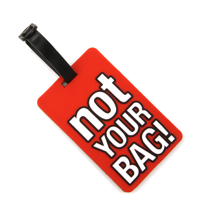 Luggage Tag 046a 34 Not Your Bag red