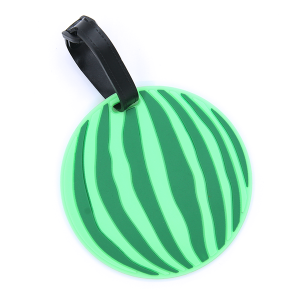 (Luggage Tag 003d 34) watermelon green