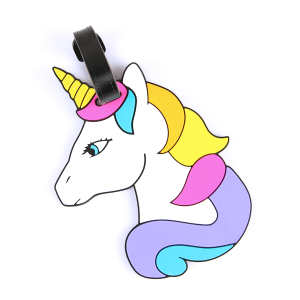 luggage tag 039 34 unicorn rainbow multi