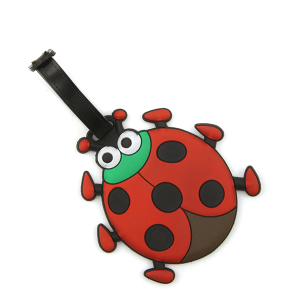 Luggage Tag 060a 34 ladybug red