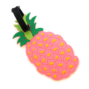 Luggage Tag 060 pink pineapple