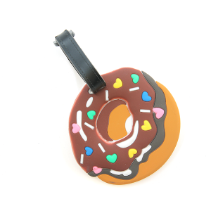 Luggage tag 021b Donut Sprinkle Hearts