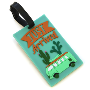 Luggage Tag 062 Just arrived Cactus