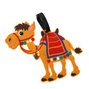 Luggage Tag 040a cartoon camel