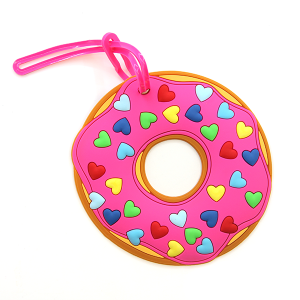 Luggage Tag 041a 34 donut heart