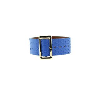 Bracelet 598a 70 buckle python snake blue