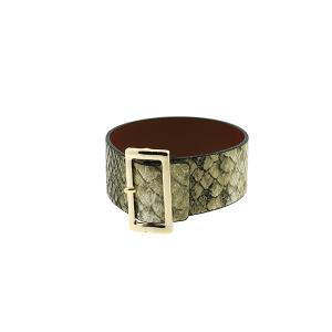 Bracelet 237d 70 buckle python snake beige