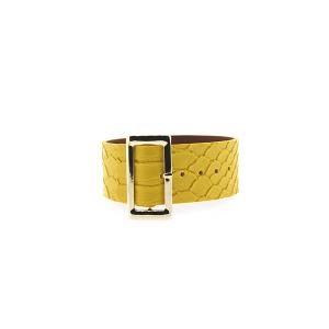Bracelet 099d 70 buckle python snake yellow