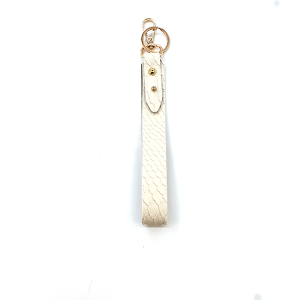 Keychain 170 70 genuine leather snake print keychain natural white