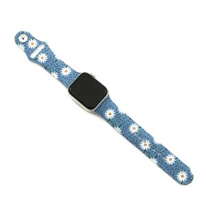 Watch Band 164a 08 38mm 40mm daisy flower blue