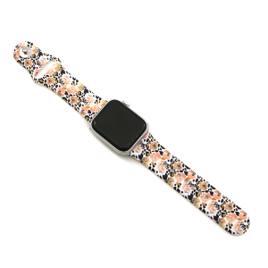 Watch Band 146c 08 38mm 40mm floral leopard white