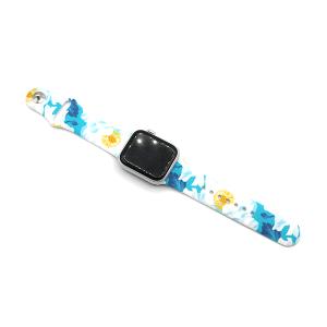 Watch Band 068a 08 38mm 40mm flower blue