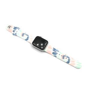 Watch Band 043f 08 38mm 40mm tie dye light multi