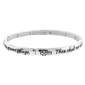 Bracelet 196f 40 Icon 2nd commandment silver