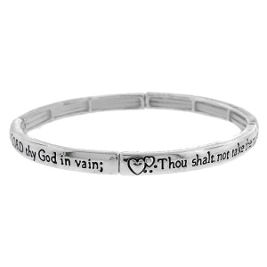 Bracelet 241f 40 Icon 3rd commandment silver