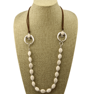 Necklace 1534b 40 Icon Collection navajo western stone white