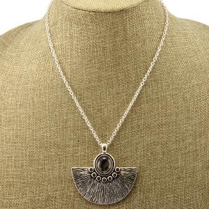 Necklace 1523a 40 Icon Collection fan leopard pendant