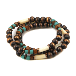 Bracelet 065b 40 Icon Collection Navajo western bead copper turquoise