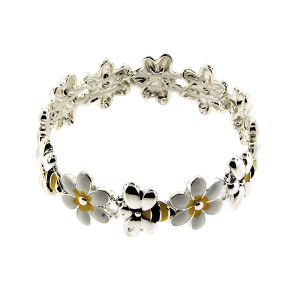 Bracelet 718 40 Icon Collection flower bee white