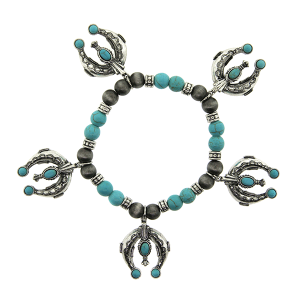 Bracelet 171e 40 Icon Collection navajo bead horseshoe
