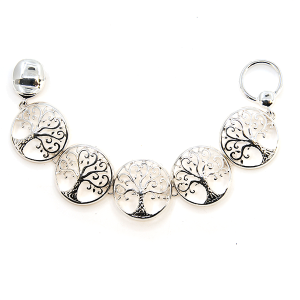 Bracelet 045 40 Icon Collection tree of life link bracelet silver