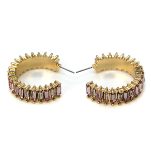 Earring 281b 40 Icon Collection c jewel earrings gold pink multi