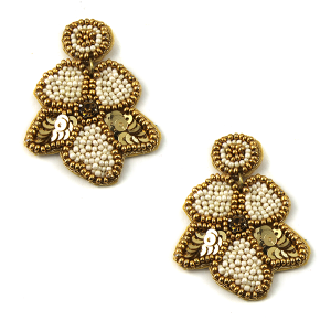 Earring 131b 40 Icon Collection seed bead earrings floral