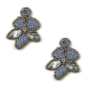 Earring 128c 40 Icon Collection seed bead earrings floral