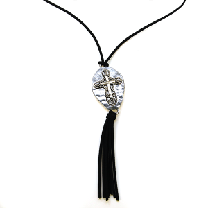 Necklace 860 40 Icon Collection string cross necklace tassel silver gold