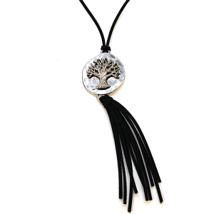 Necklace 585a 40 Icon Collection tree of life necklace tassel silver black