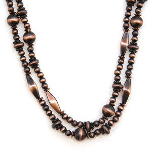 Necklace 873c 40 Icon Collection 24 - 48 inch bead necklace copper