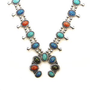 Necklace 563a 40 Icon Collection navajo stone necklace multicolor