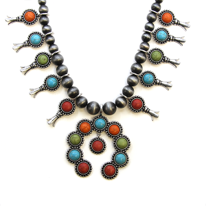 Necklace 696a 40 Icon Collection navajo stone necklace multicolor