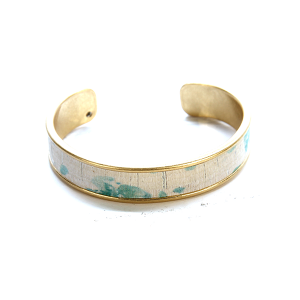 Bracelet 619f 40 Icon Collection splatter leather cuff blue