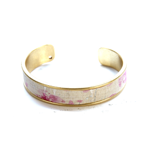 Bracelet 616d 40 Icon Collection splatter leather cuff pink