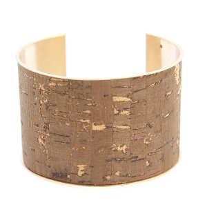 Bracelet 076c 40 Icon Collection distressed large cuff brown