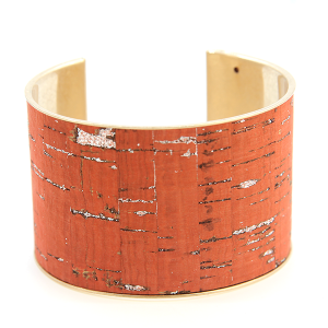 Bracelet 062b 40 Icon Collection distressed large cuff orange red