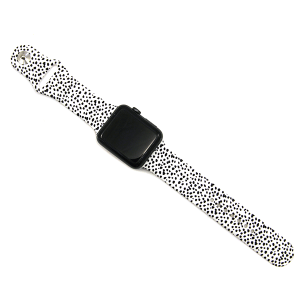 Watch Band 128a 08 cow print watch band white 42mm 44mm