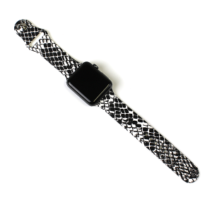Watch Band 043c 08 42mm 44mm watch band snake black white