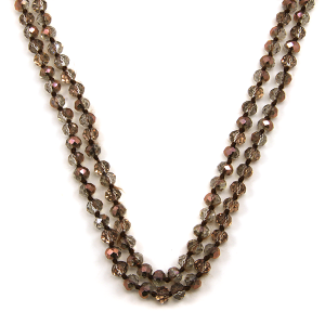 Necklace 1806 46 Encour 30 60 inch bead necklace pink clear