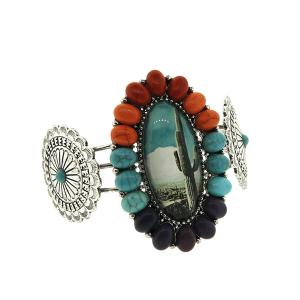 Bracelet 527 47 oori cactus bubble concho bangle multi