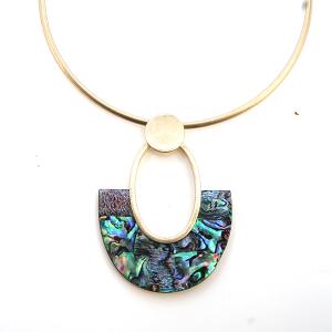 Necklace 875 47 Oori W Choker Style contemporary ab multi fan