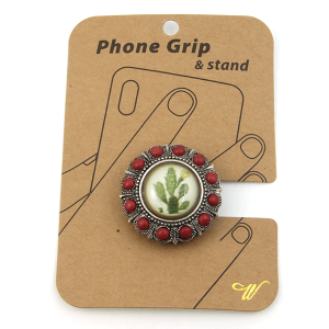 Phone Grip 015f 47 Oori western cactus concho red