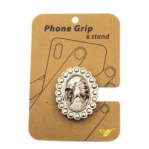Phone Grip 021 47 Oori western Indian chief silver