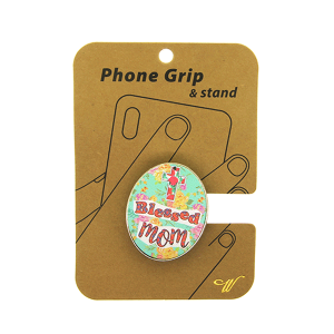 Phone Grip 005e 47 Oori floral blessed mom