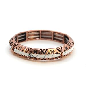 Bracelet 731k 47 Oori western navajo bracelet copper white