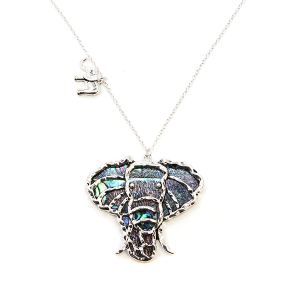 Necklace 570 C 47 Oori elephant chain necklace silver multicolor
