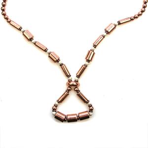 Necklace 2021b 47 Oori Navajo link bead necklace copper