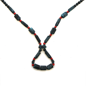 Necklace 2155b 47 Oori Navajo link bead necklace patina