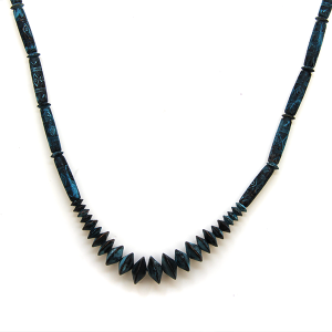 Necklace 489a 47 Oori Navajo style necklace patina